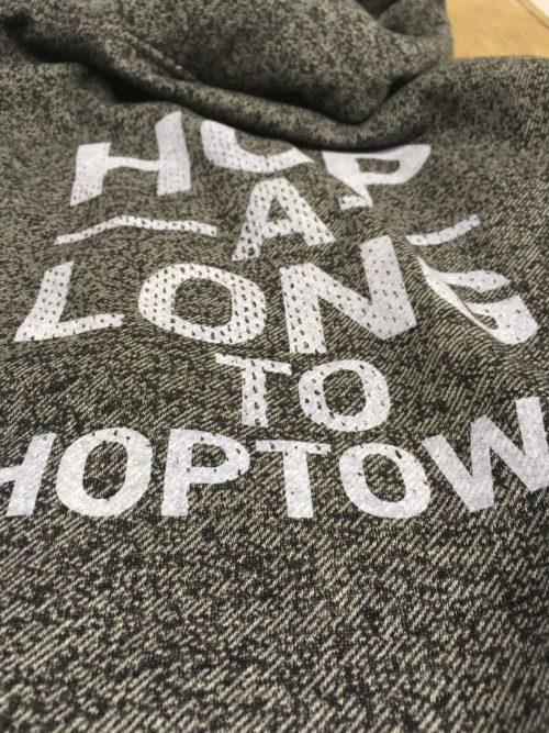 HopTown Grey Sweatshirt Photo UpClose