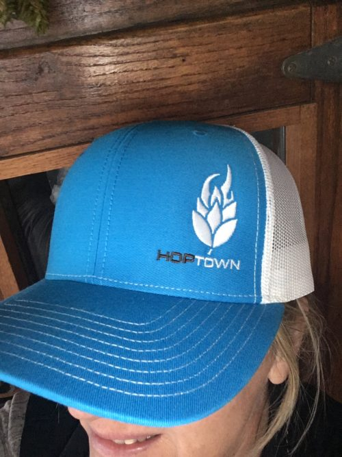 HopTown Blue Trucker Hat 1