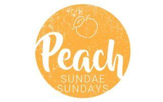 Fresh peach sundaes