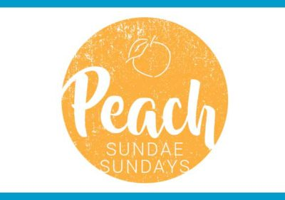 Fresh peach sundaes